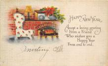 new002087 - New Years Day Postcards Old Vintage Antique Post Cards
