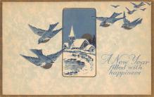 new002089 - New Years Day Postcards Old Vintage Antique Post Cards