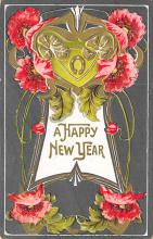 new002097 - New Years Day Postcards Old Vintage Antique Post Cards