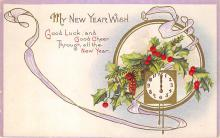 new002107 - New Years Day Postcards Old Vintage Antique Post Cards