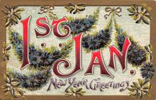 new002115 - New Years Day Postcards Old Vintage Antique Post Cards
