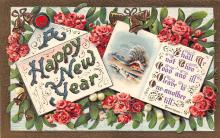 new002117 - New Years Day Postcards Old Vintage Antique Post Cards