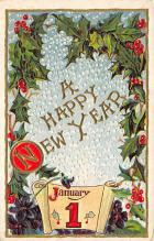 new002135 - New Years Day Postcards Old Vintage Antique Post Cards