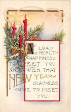 new002149 - New Years Day Postcards Old Vintage Antique Post Cards