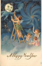 new002171 - New Years Day Postcards Old Vintage Antique Post Cards
