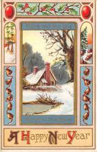 new002179 - New Years Day Postcards Old Vintage Antique Post Cards