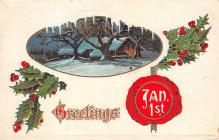 new002183 - New Years Day Postcards Old Vintage Antique Post Cards