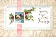 new002191 - New Years Day Postcards Old Vintage Antique Post Cards