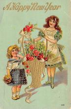 new002215 - New Years Day Postcards Old Vintage Antique Post Cards