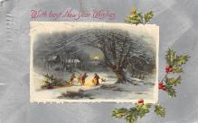 new002227 - New Years Day Postcards Old Vintage Antique Post Cards