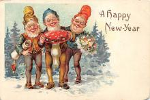 new002263 - New Years Day Postcards Old Vintage Antique Post Cards