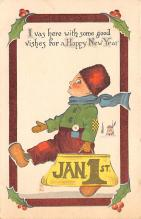 new002291 - New Years Day Postcards Old Vintage Antique Post Cards
