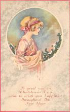 new002295 - New Years Day Postcards Old Vintage Antique Post Cards