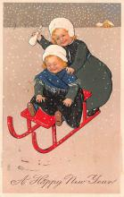 new002301 - New Years Day Postcards Old Vintage Antique Post Cards