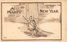 new002351 - New Years Day Postcards Old Vintage Antique Post Cards