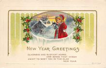 new002353 - New Years Day Postcards Old Vintage Antique Post Cards