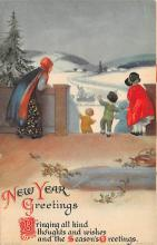 new002359 - New Years Day Postcards Old Vintage Antique Post Cards
