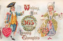 new002379 - New Years Day Postcards Old Vintage Antique Post Cards