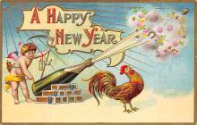 new002381 - New Years Day Postcards Old Vintage Antique Post Cards