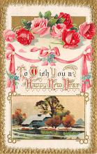 new002385 - New Years Day Postcards Old Vintage Antique Post Cards