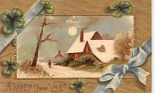 new002391 - New Years Day Postcards Old Vintage Antique Post Cards