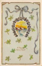 new002403 - New Years Day Postcards Old Vintage Antique Post Cards