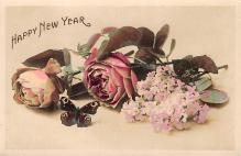 new002407 - New Years Day Postcards Old Vintage Antique Post Cards