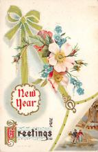 new002411 - New Years Day Postcards Old Vintage Antique Post Cards