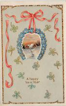 new002415 - New Years Day Postcards Old Vintage Antique Post Cards