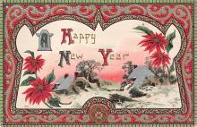 new002417 - New Years Day Postcards Old Vintage Antique Post Cards