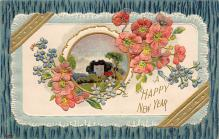 new002425 - New Years Day Postcards Old Vintage Antique Post Cards