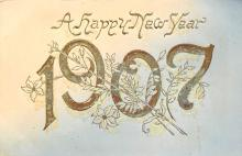 new002439 - New Years Day Postcards Old Vintage Antique Post Cards