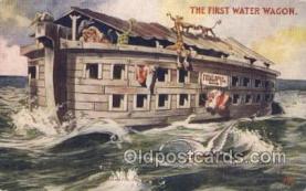 noa001002 - The First water wagon Noahs Ark Postcard Postcards