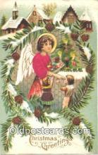 nov001012 - Christmas Greetings Novelty Postcard Post Cards Old Vintage Antique