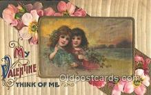 nov001025 - My Valentine Think Of Me Novelty Postcard Post Cards Old Vintage Antique