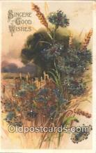 nov001076 - Good Wishes Novelty Postcard Post Cards Old Vintage Antique