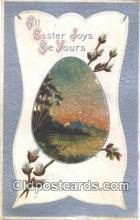 nov001081 - Easter Joys Novelty Postcard Post Cards Old Vintage Antique