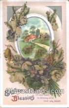 nov001082 - Easter Greetings Novelty Postcard Post Cards Old Vintage Antique