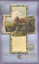 nov001084 - A Joyful Easter Novelty Postcard Post Cards Old Vintage Antique