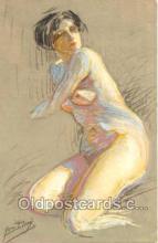 nud001003 - Artist Yves Diey Nude, Nudes Postcard Postcards
