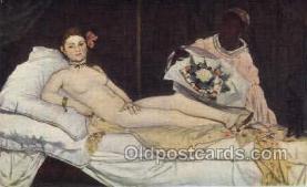 nud001126 - Artist Ed. Manet, Nude Postcard Postcards