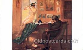nud001134 - Artist EA Krier, Nude Postcard Postcards