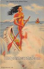 nud007096 - Legend of the White Canoe  Postcard Post Card