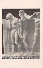 nud007100 - Life of Humanity Statues by George Grey Barnard Postcard Post Card