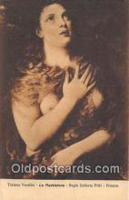 nud007112 - Tiziano Vecellio, La Maddalena Regia Galleria Pitti, Firenze Postcard Post Card