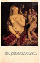 nud007114 - Venus with a Mirror By Titian Postcard Post Card