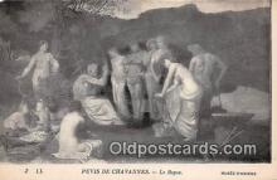 nud007138 - Puvis De Chavannes, Le Repos Musee D'Amiens Postcard Post Card