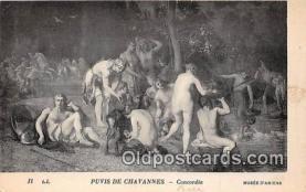 nud007139 - Puvis De Chavannes, Concordia Musee D'Amiens Postcard Post Card