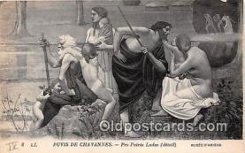 nud007142 - Puvis De Chavannes, Pro Patrica Ludus Musee D'Amiens Postcard Post Card