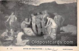 nud007149 - Puvis De Chavannes, Le Repos Musee D'Amiens Postcard Post Card